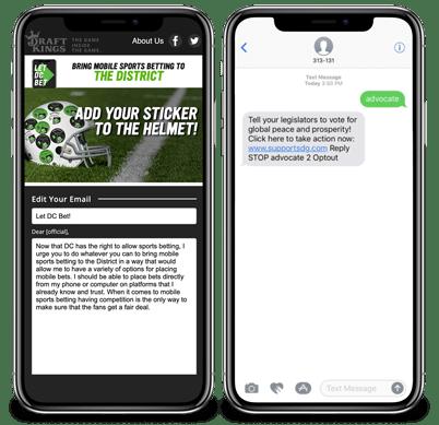 Text Messages & Mobile Keywords Screenshot